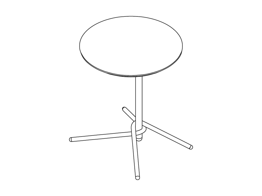 A line drawing - Knot Side Table–Round