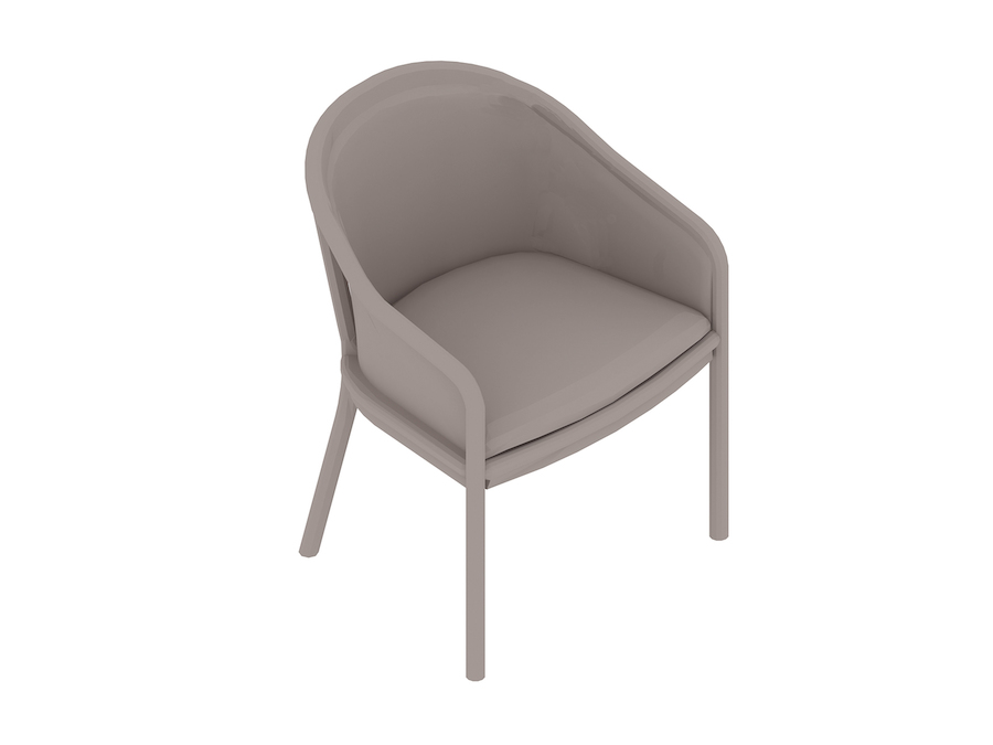 A generic rendering - Landmark Chair – French Upholstered – Standard Arms