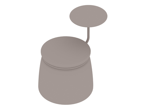 A generic rendering - Lasso Stool–1 Seat–With Table