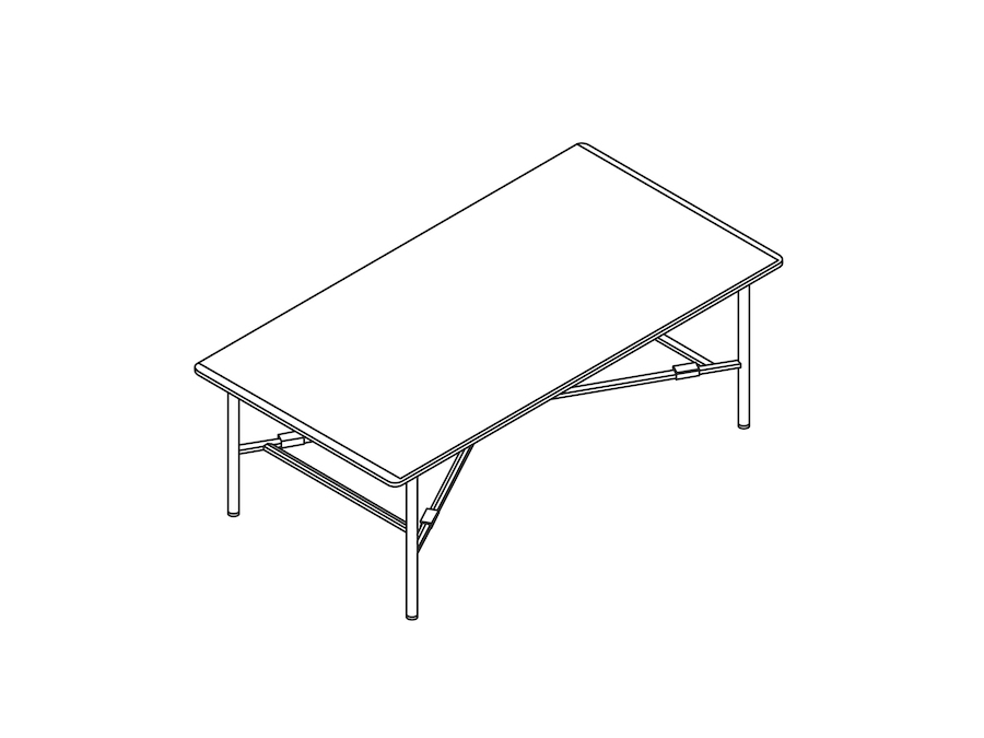 A line drawing - Layer Coffee Table–No Shelf
