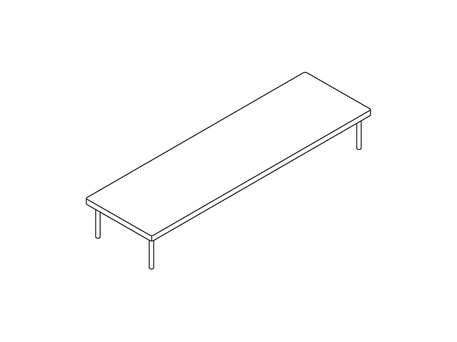 A line drawing - Layer Nesting Table–Low