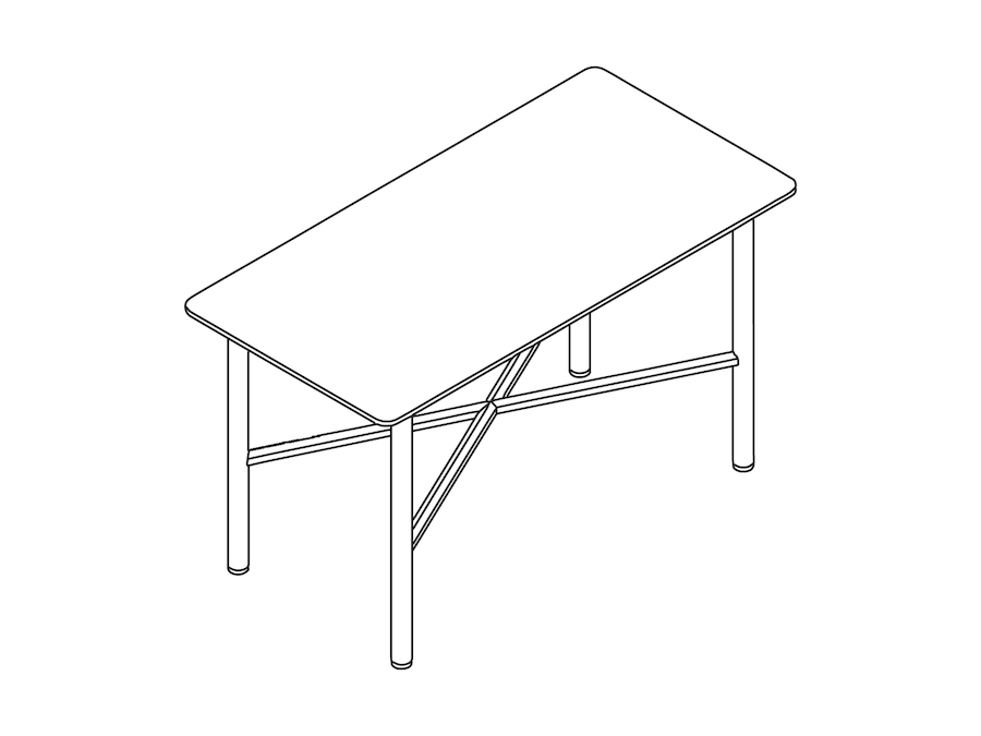A line drawing - Layer Side Table–No Shelf