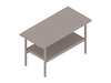A generic rendering - Layer Side Table–Stone Shelf