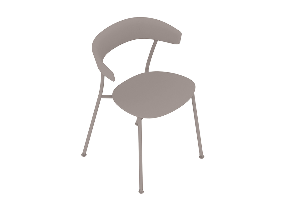 A generic rendering - Leeway Chair–Metal Frame–Wood Seat