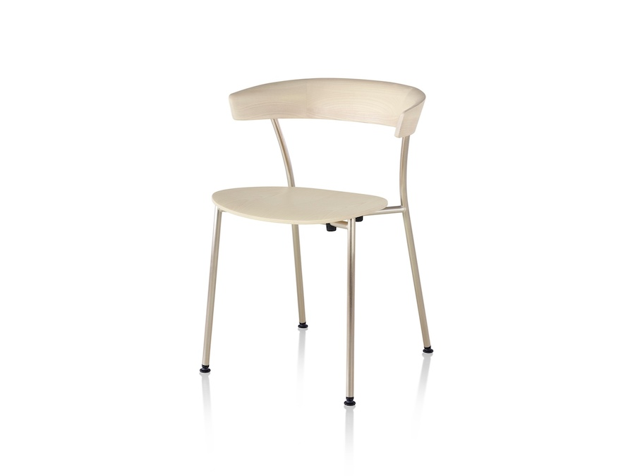 A photo - Leeway Chair–Metal Frame–Wood Seat