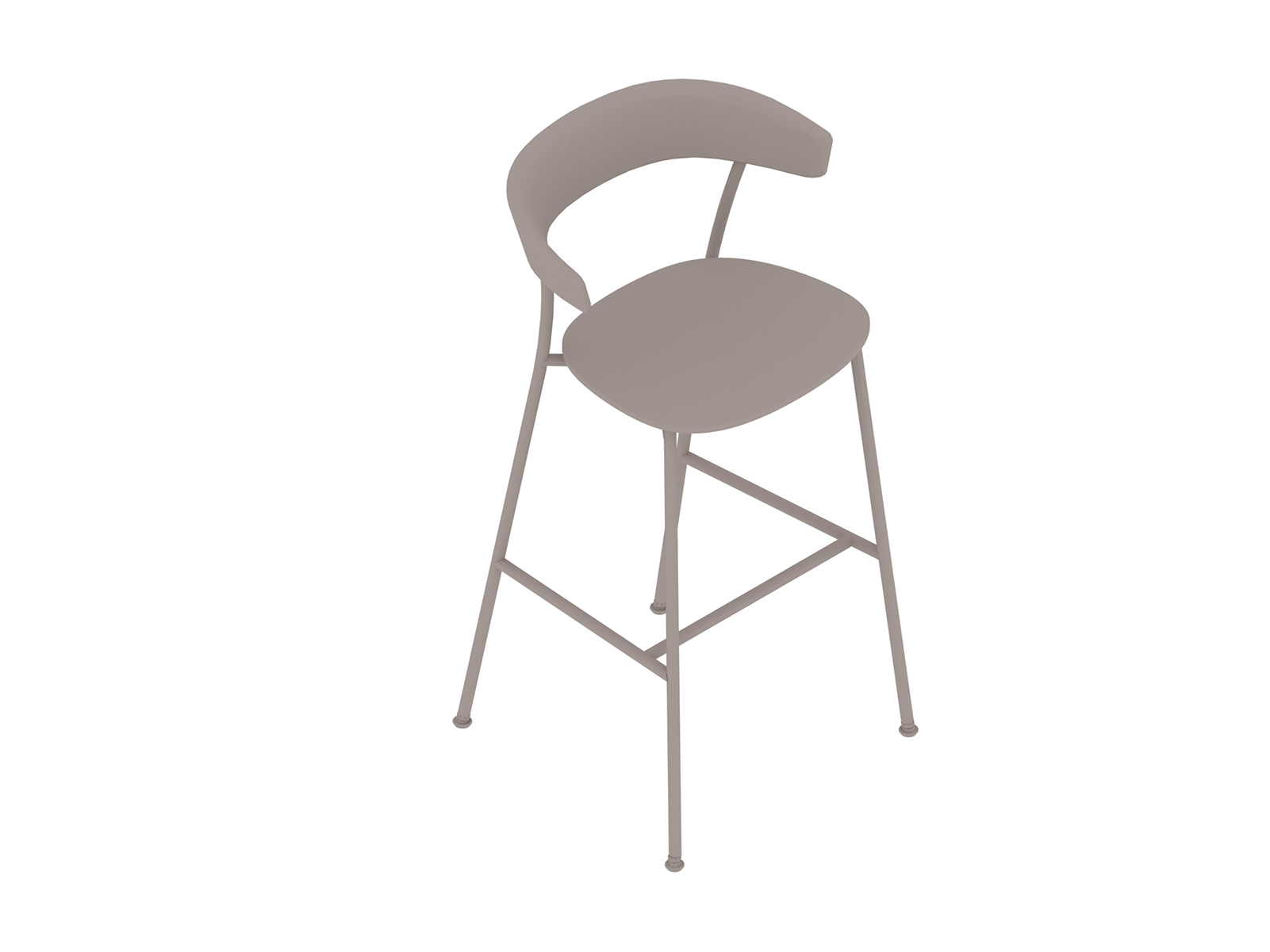 A generic rendering - Leeway Stool–Bar Height–Polyurethane Seat