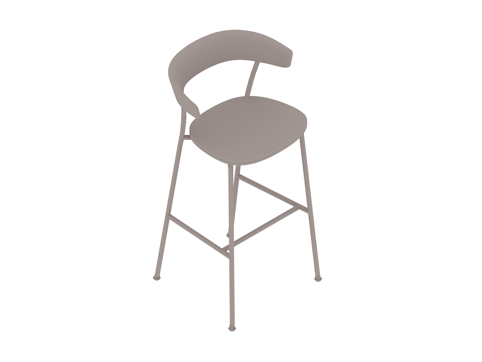 A generic rendering - Leeway Stool–Bar Height–Upholstered Seat