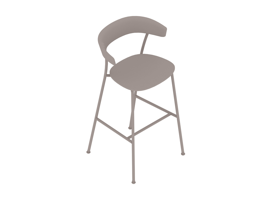 A generic rendering - Leeway Stool–Bar Height–Wood Seat