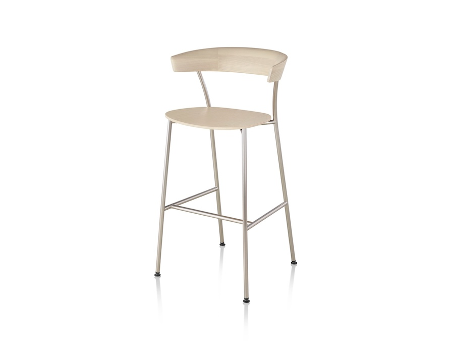 A photo - Leeway Stool–Bar Height–Wood Seat