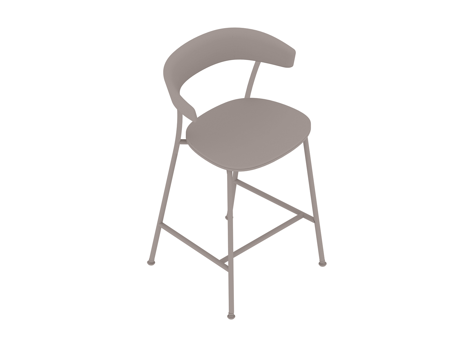 A generic rendering - Leeway Stool–Counter Height–Upholstered Seat