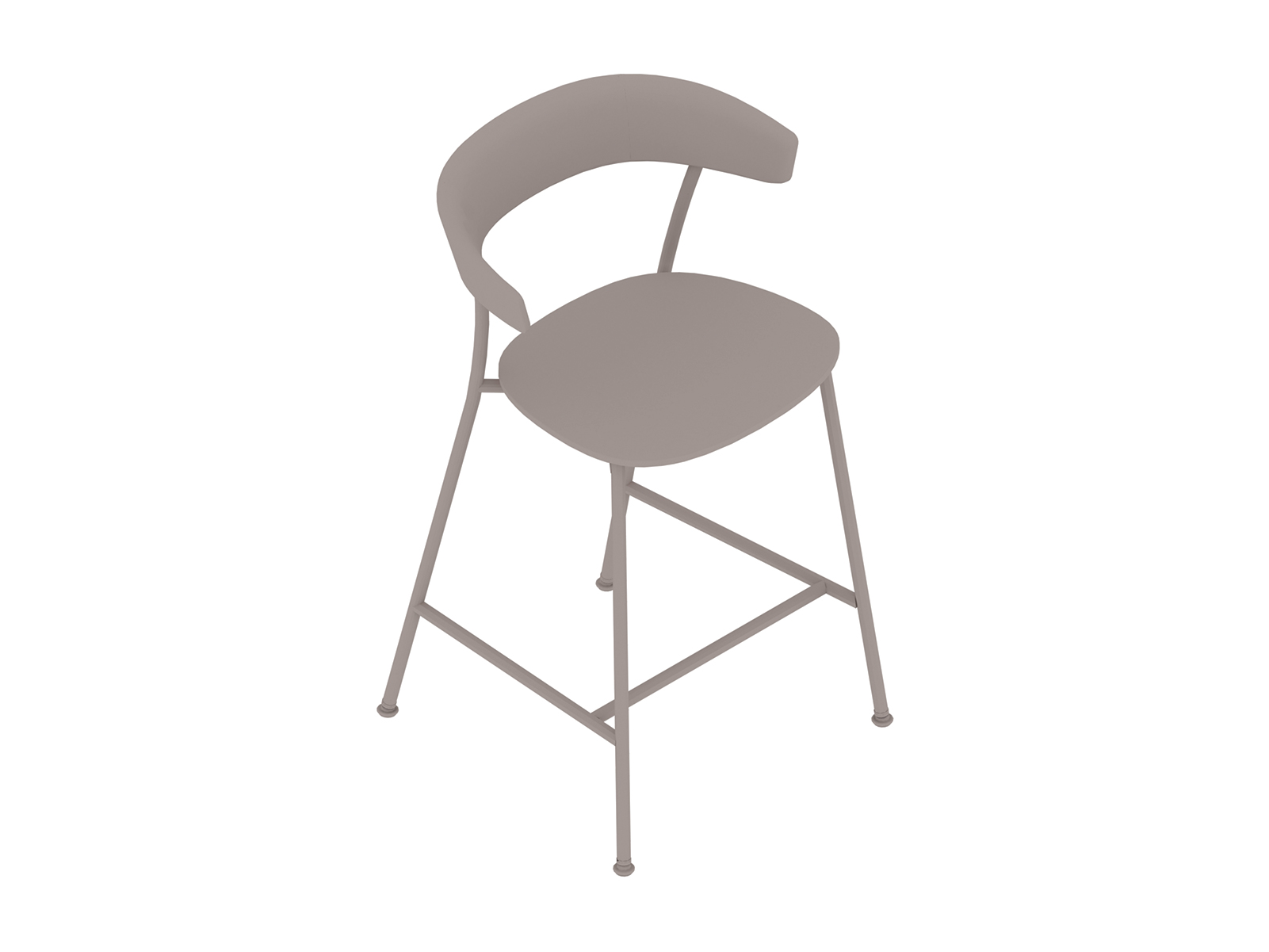 A generic rendering - Leeway Stool–Counter Height–Wood Seat