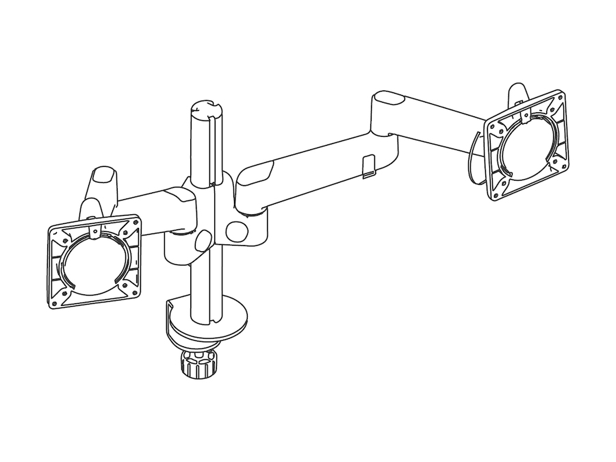A line drawing - Lima Monitor Arm