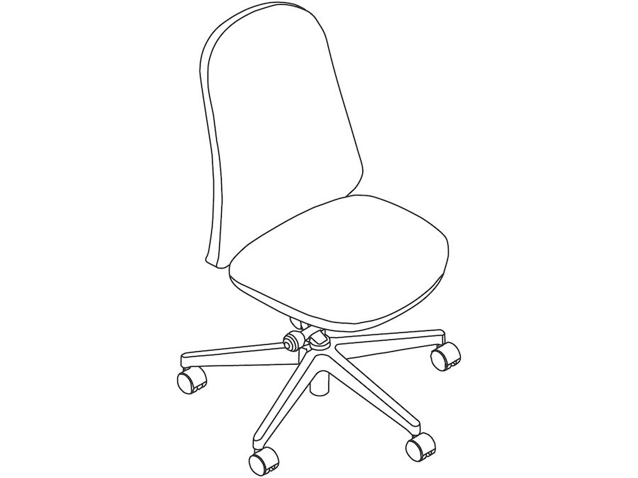 A line drawing - Lino Chair–Armless
