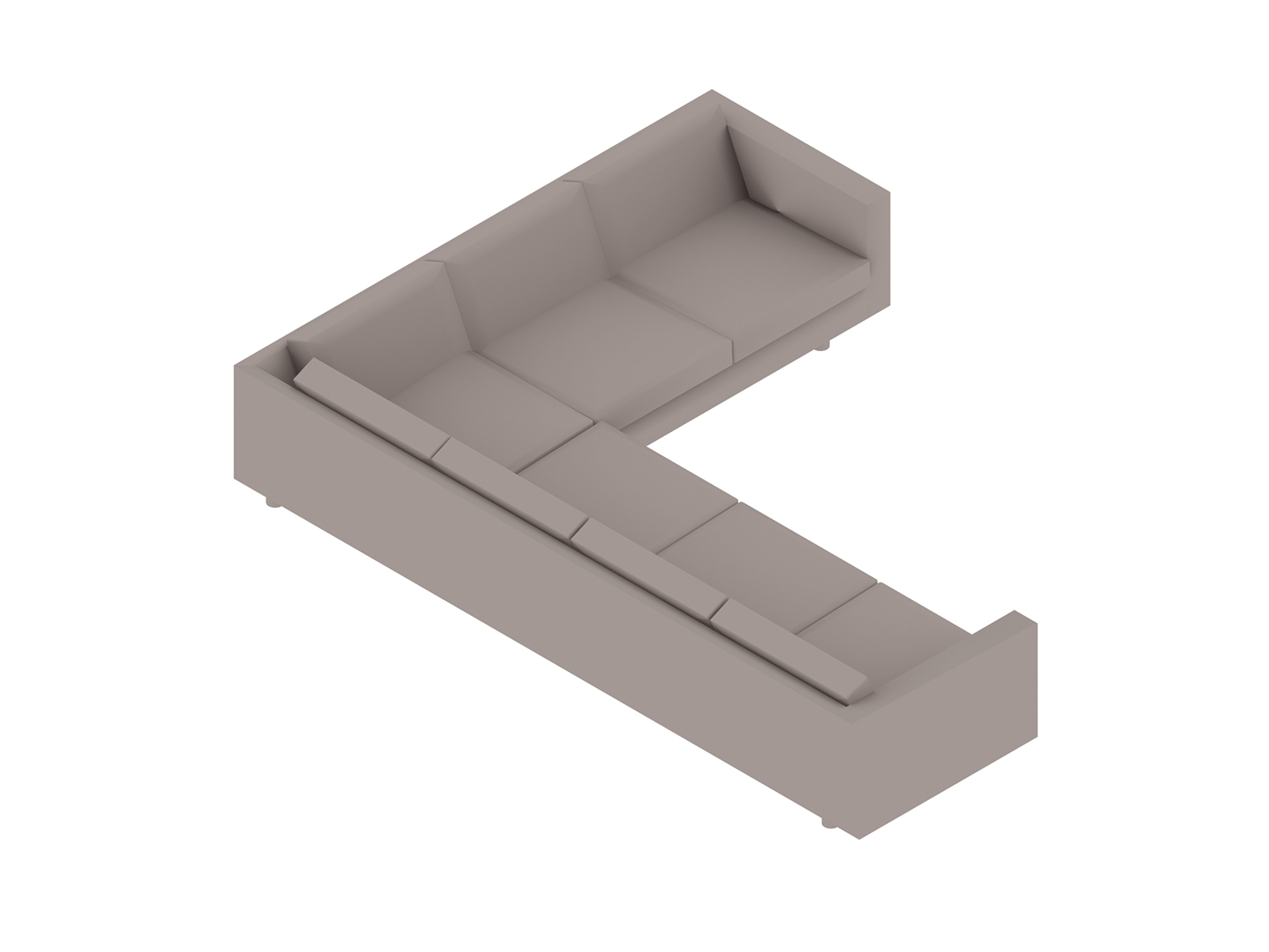 A generic rendering - Lispenard Sectional Sofa–Right