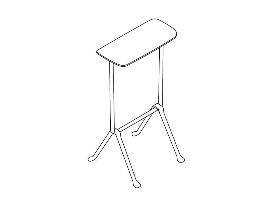 A line drawing - Magis Officina Stool–High