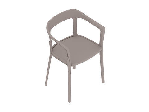 A generic rendering - Magis Steelwood Chair–Nonupholstered