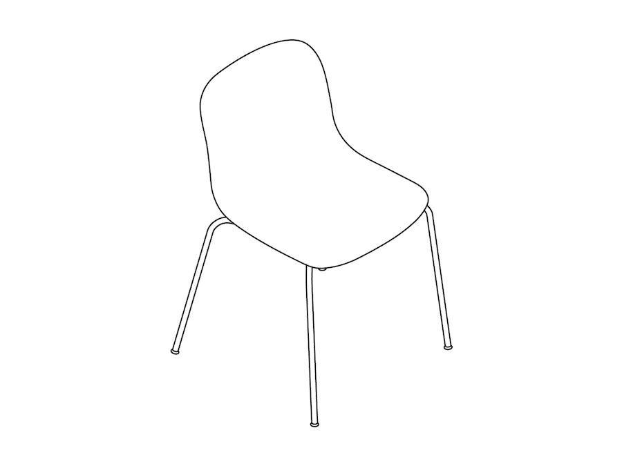 A line drawing - Magis Troy Plastic Chair–Armless