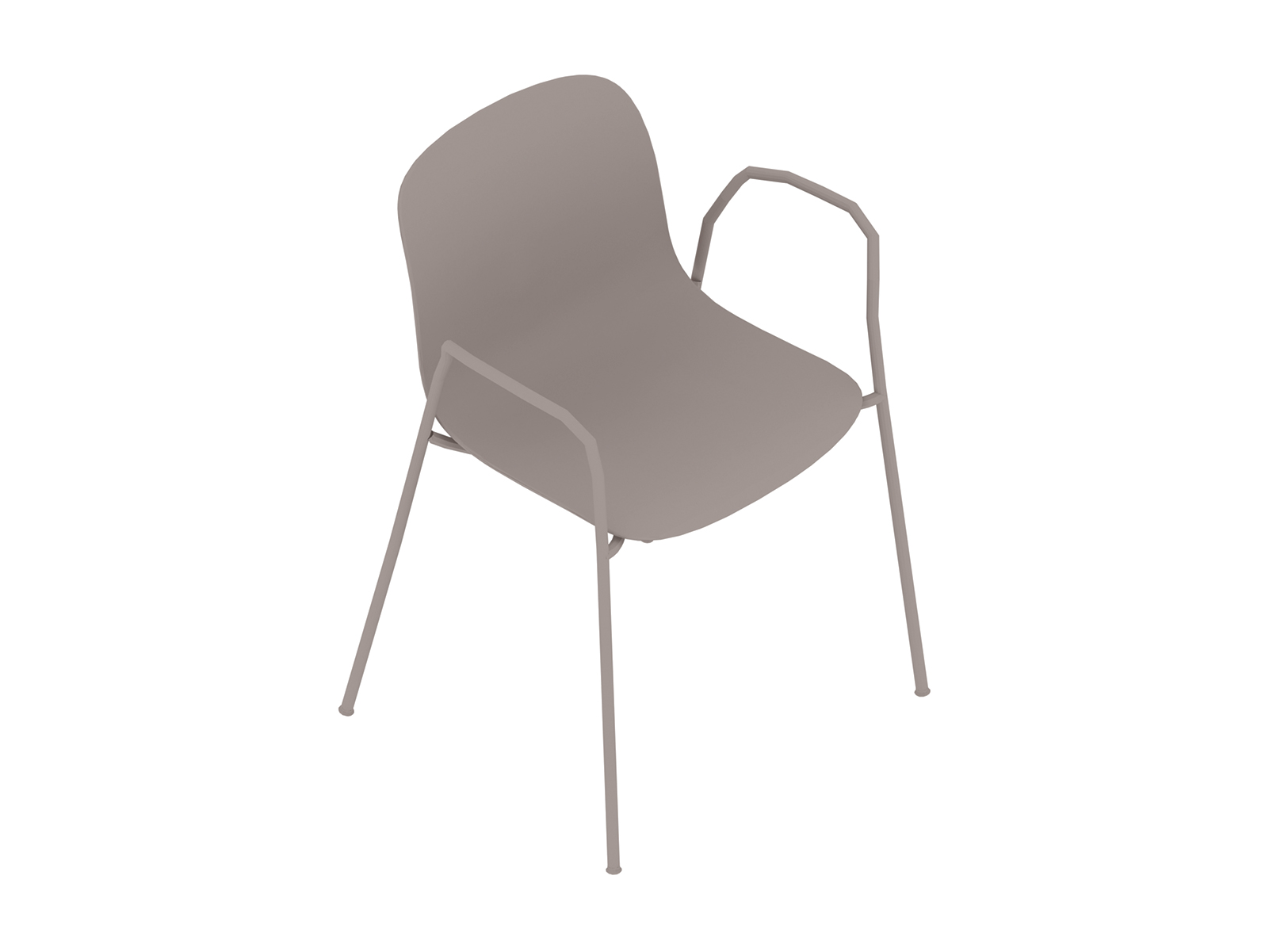 A generic rendering - Magis Troy Plastic Chair–With Arms