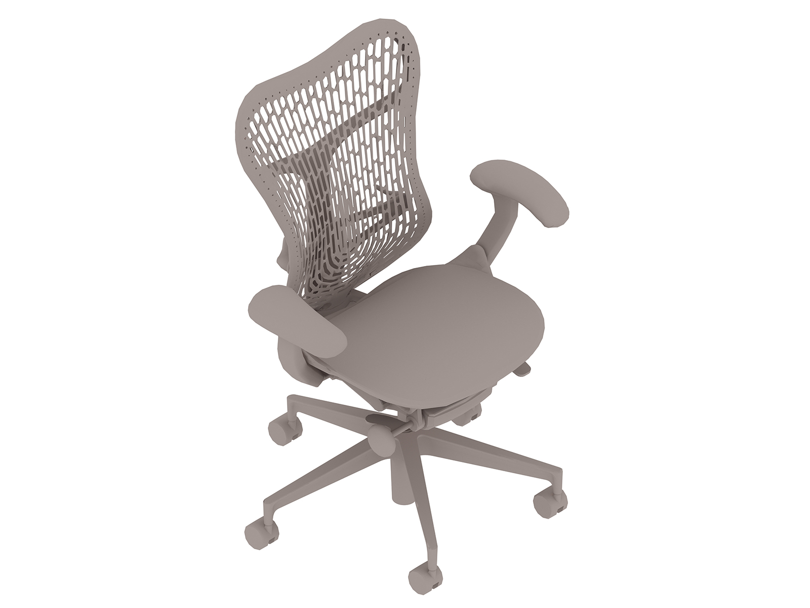 A generic rendering - Mirra 2 Chair–Polymer Back–Adjustable Arms