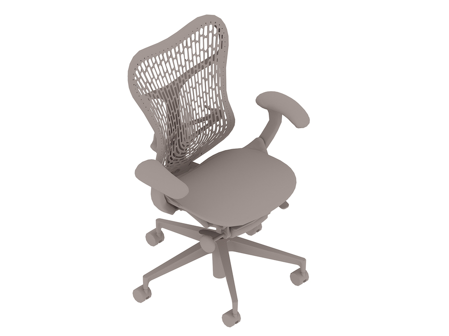 A generic rendering - Mirra 2 Chair–Polymer Back–Fixed Arms