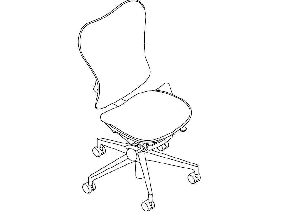 A line drawing - Mirra 2 Chair–Suspension Back–Armless