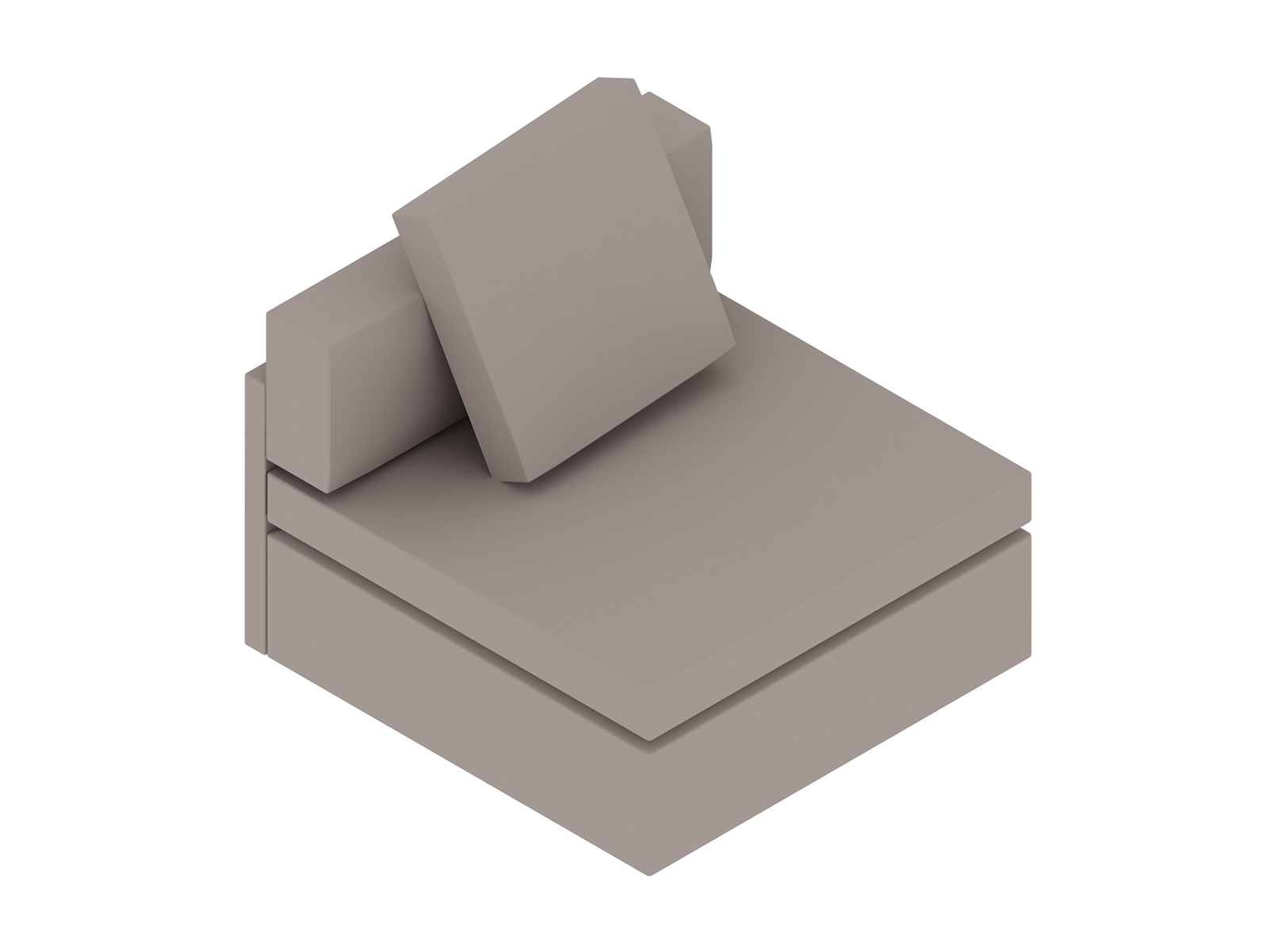 A generic rendering - Module Lounge Seating–Single Seat–Armless