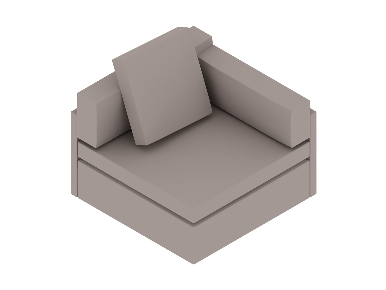 A generic rendering - Module Lounge Seating–Single Seat–Left Arm