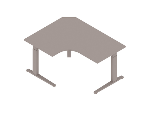 A generic rendering - Motia Sit-to-Stand Table–Extended Corner