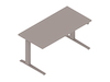 A generic rendering - Motia Sit-to-Stand Table–Rectangular–C Foot