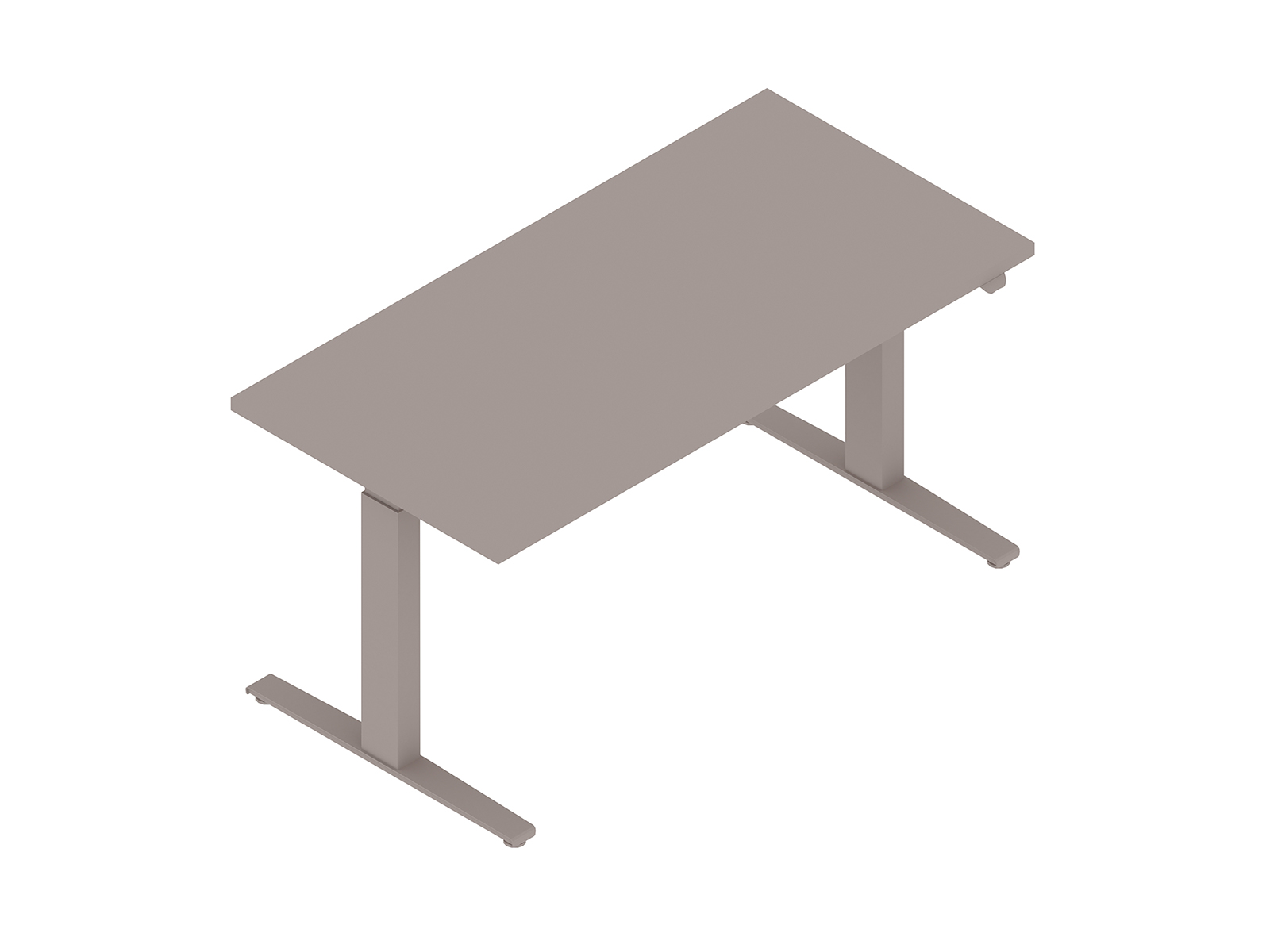 A generic rendering - Motia Sit-to-Stand Table–Rectangular–T Foot