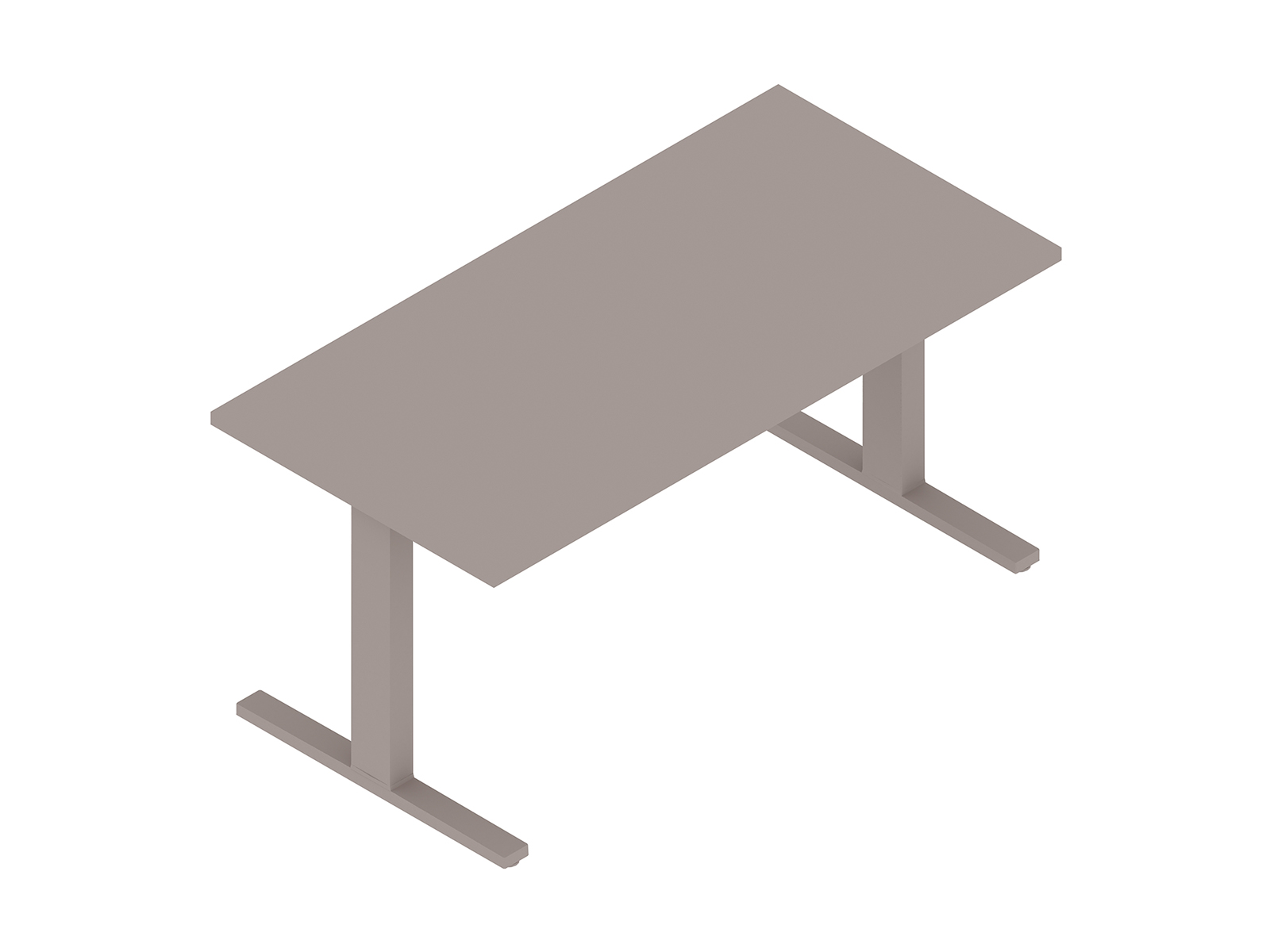 A generic rendering - Motia Sit-to-Stand Table–Vista Rectangular