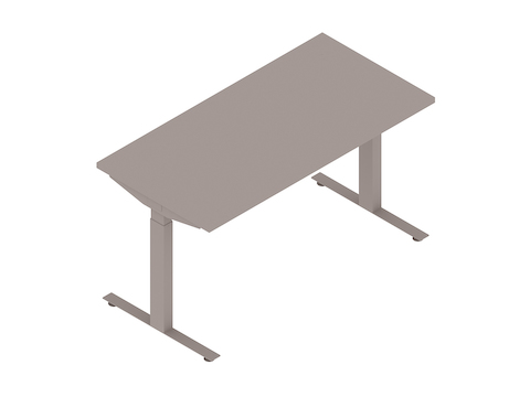A generic rendering - Nevi Sit-Stand Desks