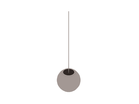 A generic rendering - Nelson Ball Bubble Pendant–Medium