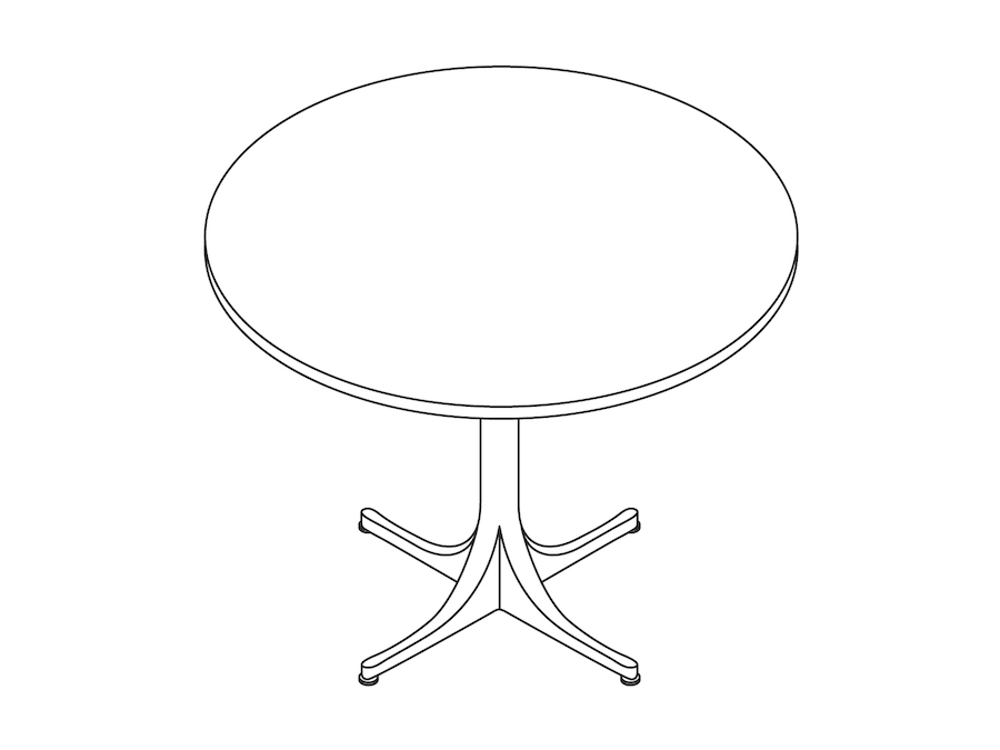 A line drawing - Nelson Pedestal Table