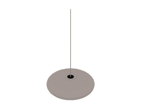 A generic rendering - Nelson Saucer Bubble Pendant–Large