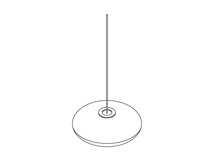 A line drawing - Nelson Saucer Bubble Pendant–Large