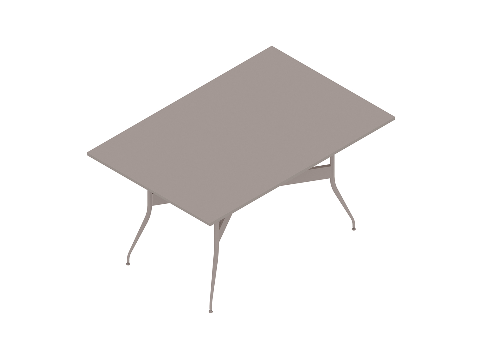 A generic rendering - Nelson Swag Leg Table–Rectangular