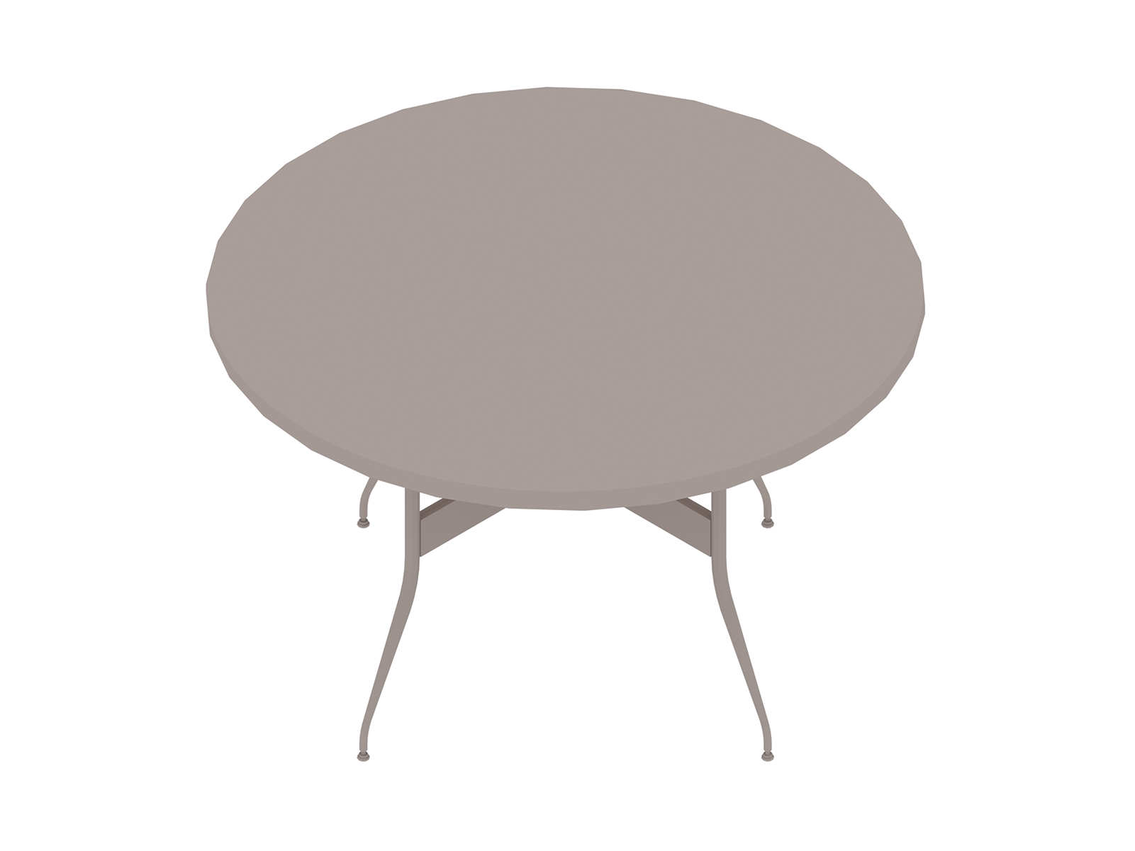 A generic rendering - Nelson Swag Leg Table–Round