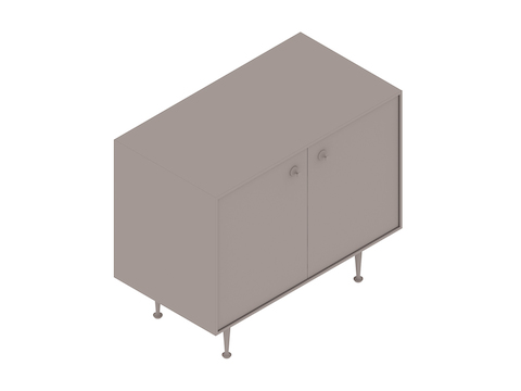 A generic rendering - Nelson Thin Edge Cabinet