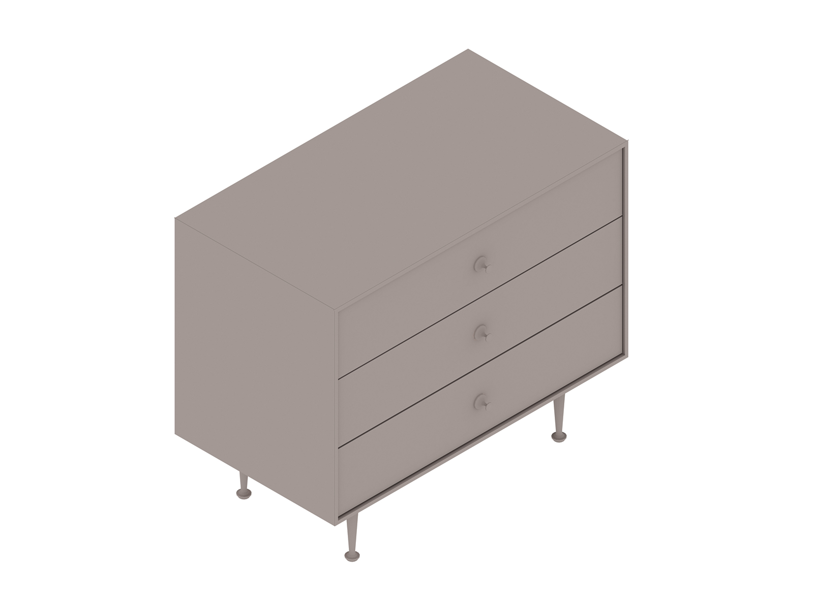 A generic rendering - Nelson Thin Edge Chest–3 Drawer