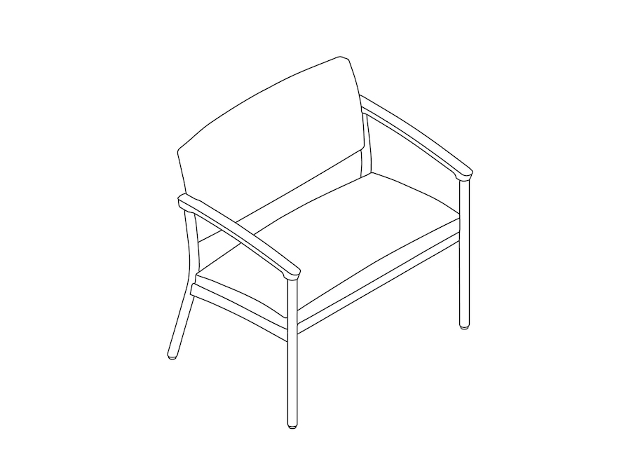 A line drawing - Nemschoff Whisk Plus Chair