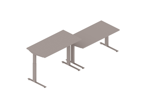 A generic rendering - Nevi Sit-to-Stand Tables