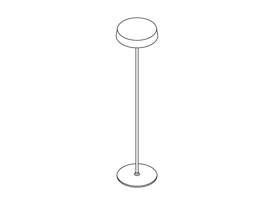 A line drawing - Ode Freestanding Floor Lamp