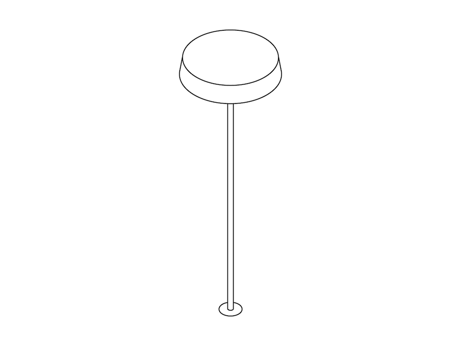 A line drawing - Ode Lamp–Integrated