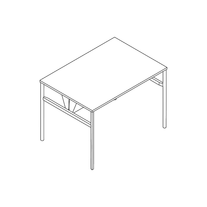 A line drawing - OE1 Communal Table–Bar Height–1 Piece–Double Sided
