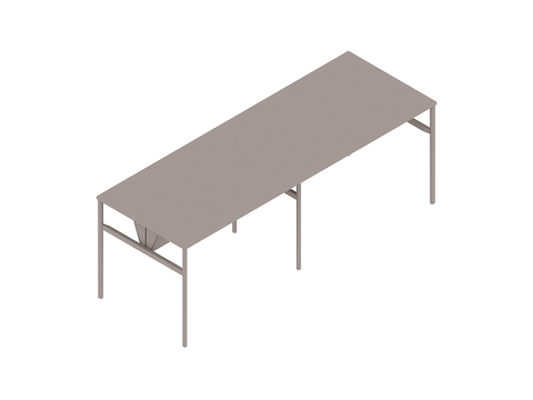 A generic rendering - OE1 Communal Table–Bar Height–2 Piece–Double Sided