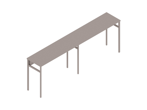 A generic rendering - OE1 Communal Table–Bar Height–2 Piece–Single Sided
