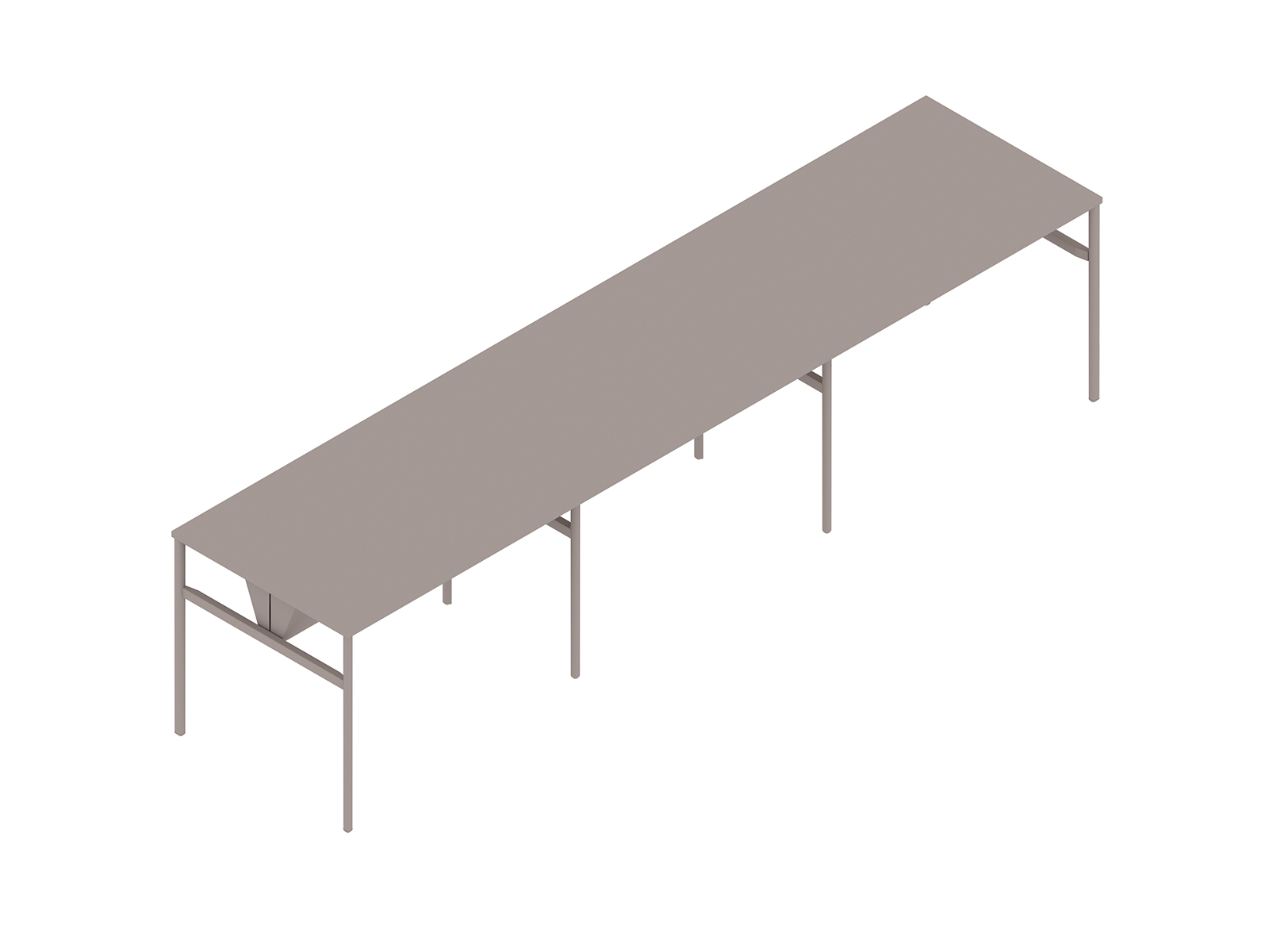 A generic rendering - OE1 Communal Table–Bar Height–3 Piece–Double Sided
