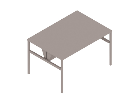 A generic rendering - OE1 Communal Table–Counter Height–1 Piece–Double Sided