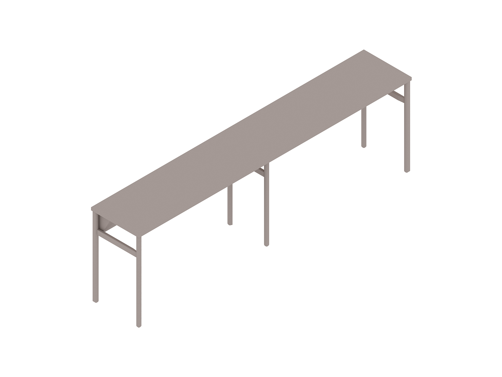 A generic rendering - OE1 Communal Table–Counter Height–2 Piece–Single Sided